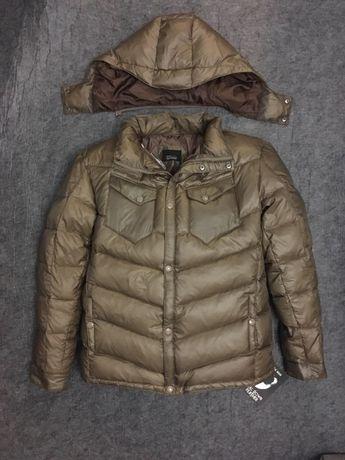 Пухова куртка пуховик чоловічий ZARA 48 52 54 зимняя мужская S L XL