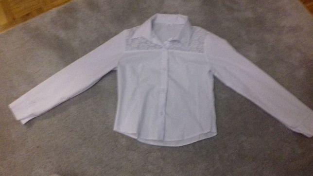 Koszula dziewczęca biała 134