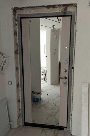 Установка входных дверей, оформление проема, демонтаж