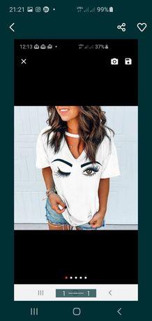 Piękna biała bluzka damska r. XL
