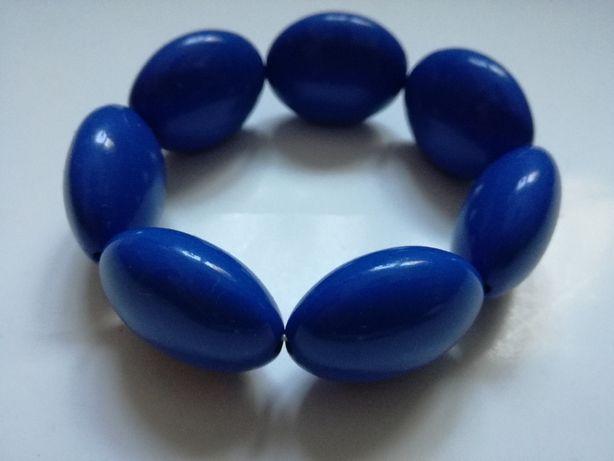 Bransoletka niebieska granatowa plastikowa