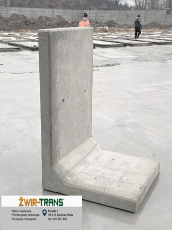 """Mur oporowy """"L"""" """"elka"""" ściana betonowa"""