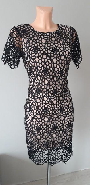 Sukienka koronka gipura roz 36 S