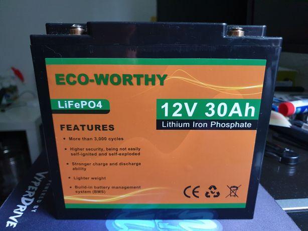 Akumulator LifePO4 30Ah do echosondy, pompki, lodówki etc