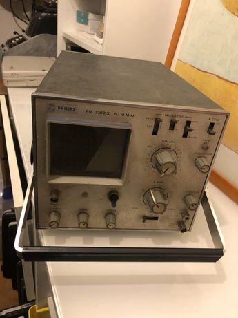 Philips PM 3200 osciloscópio manual com 50 anos