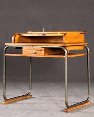Escrivaninha em metal cromado e madeira| Desk design| 10% off