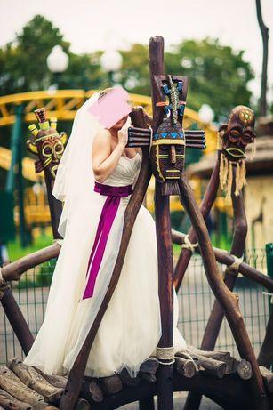 Свадебное платье по модели Vera Wang