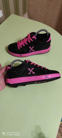 Кроссовки ролики sidewalk sports roller shoes 36-37р.23.5см как новые