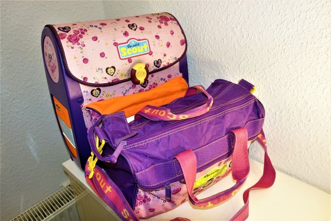 Набор для девочки Школьный рюкзак Skaut + сумка