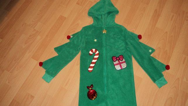 kombinezon pluszowy kostium choinka elf