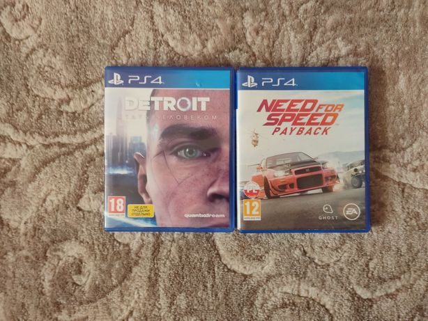 Продам диски ps4 need for speed payback, Detroit become hum