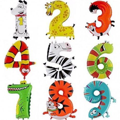 Цифра на день рождения, шар цифра, воздушные шары, фотозона