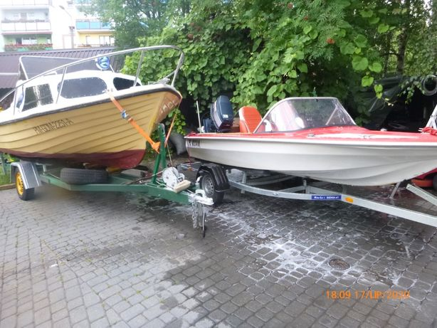 Łódka Cameo motorówka Yamaha 50 HP przyczepka podłodziowa