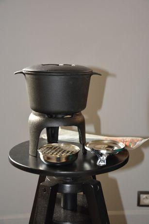 żeliwny zestaw do fondue