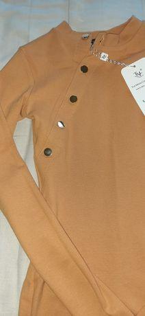 Bluzeczka w kolorze Musztardowym