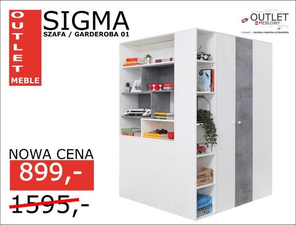 Garderoba / Szafa ubraniowa SIGMA - Outlet Meble