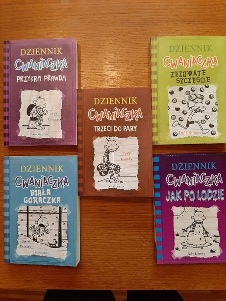 """Zestaw 5 książek """"Dziennik cwaniaczka"""""""