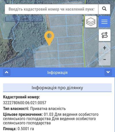 Продаж земельної ділянки 0,50га ОСГ власник