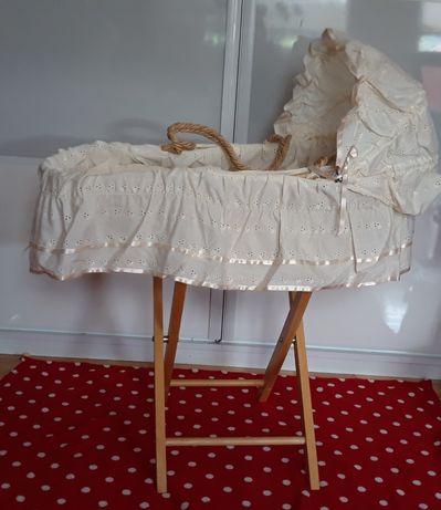 Kosz Mojżesza pierwsze łóżeczko ze stelażem i wypełnieniem