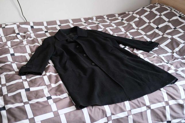 Elegancki długi płaszcz z kaszmiru i wełny - rozmiar XXL