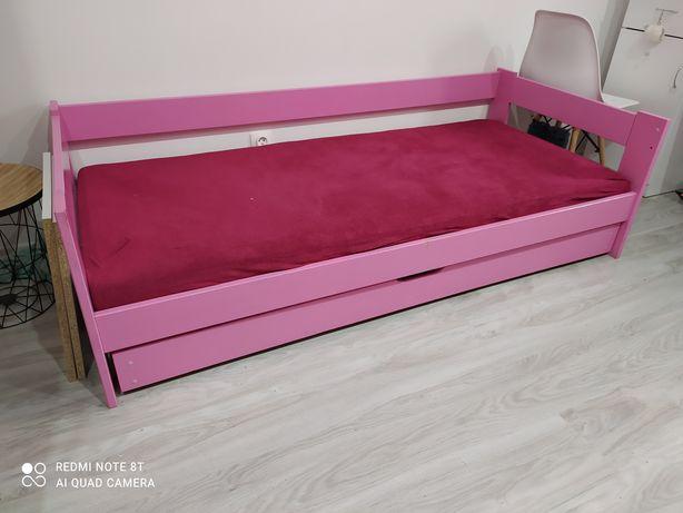 Łóżko dziecięce, dziewczęce z szufladą materac gratis