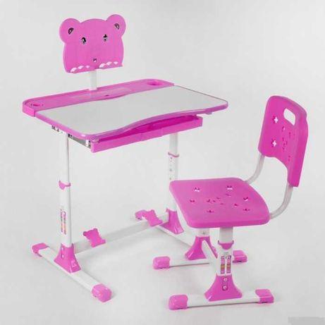 Стол-парта для дома, со стульчиком, розовая