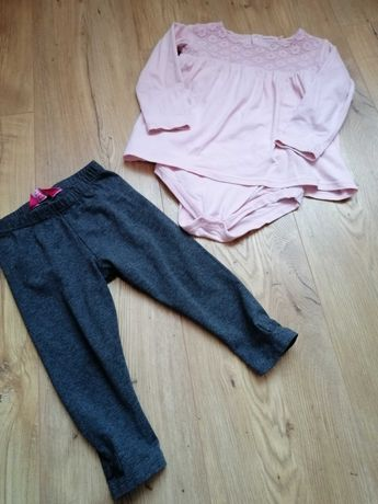 Body sukienka + legginsy r. 86