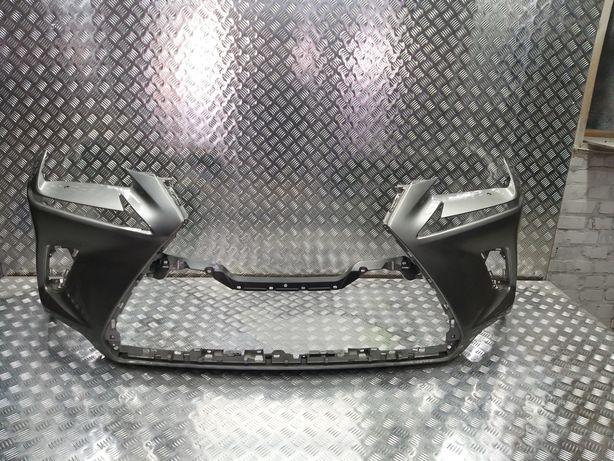 Передний бампер на Lexus NX200 2017+ рестайлинг