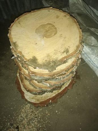 Plastry drewna drewniane ozdoba blat brzoza