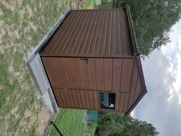 Mały Garaż Drewnopodobny - Wiatka , Schowek Budowlany, Na narzędzia