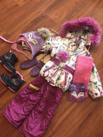 Зимний комбинезон курточка зимняя комплект