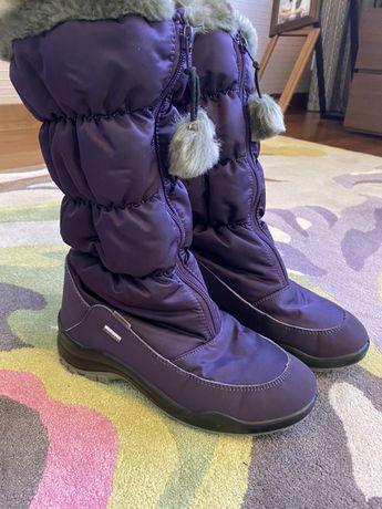 Итальянские Сапоги Skandia 1545 фиолетового цвета 36 р