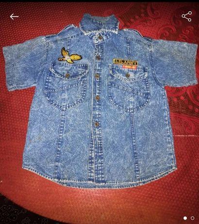 Джинсовая рубашка 7-8 лет