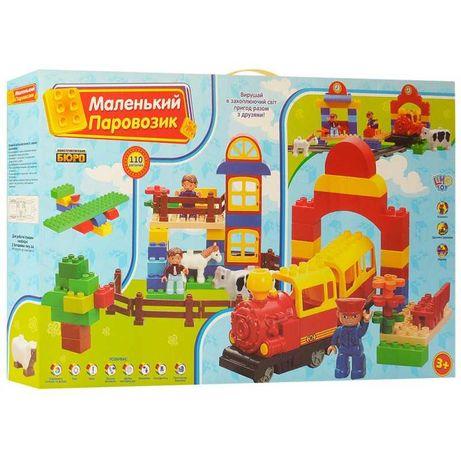 Конструктор железная дорога -  Маленький паровозик M0437 110 дет Лего