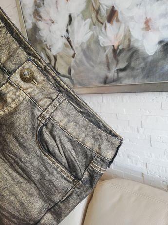 Jeansowa spódniczka Esprit 34 jak 36 stare złoto