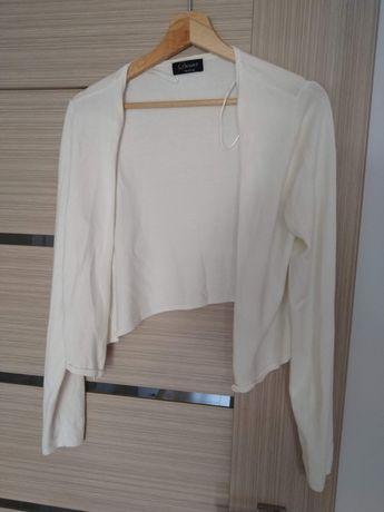 Sweterek: kremowy, nieużywany, C&A, r. M (duże)