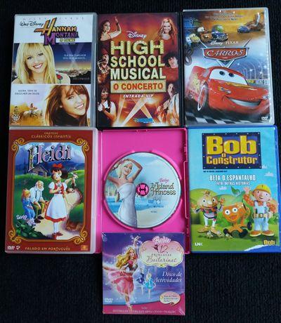 Pack 6 DVDs Infantis e Juvenis - Disney, Pixar e outros