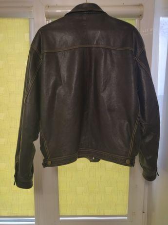 Куртка кожаная ,коричневая