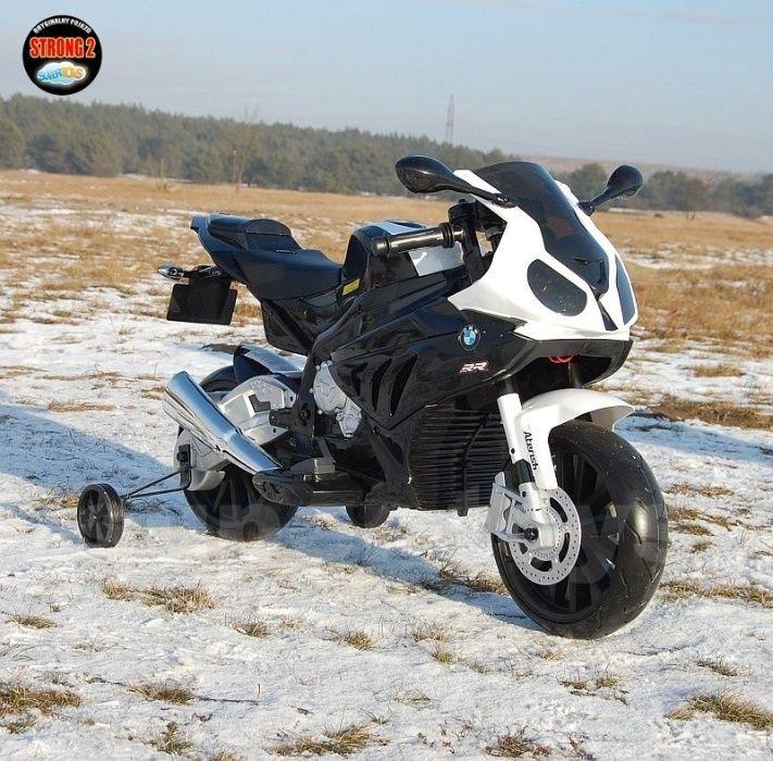 Wielki Motor na akumulator BMW S1000RR 12V czarno-biały Jaworzno - image 1
