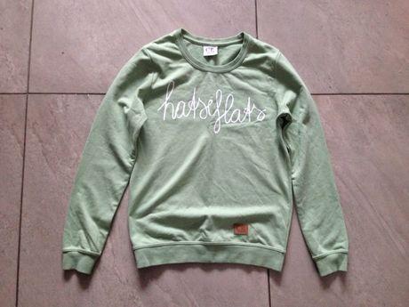 Bluza groszkowo zielona z białym napisem S Colourful Rebel Amsterdam