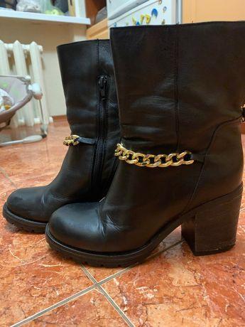 Женские кожаные ботинки Venezia 38 размер
