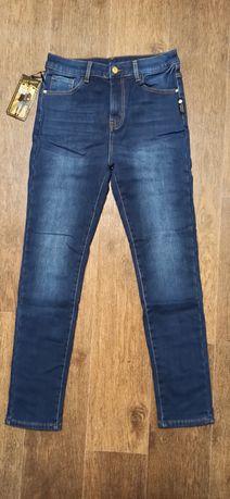 Теплые женские джинсы на флисе, батальные размеры