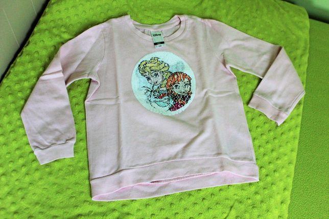 Bluza ze zmieniającymi cekinami, roz. 122 - Kraina Lodu - Frozen