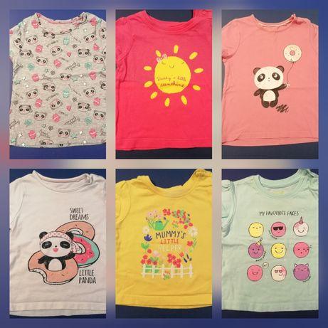 T-shirts de manga curta T3-6M e 12-24M