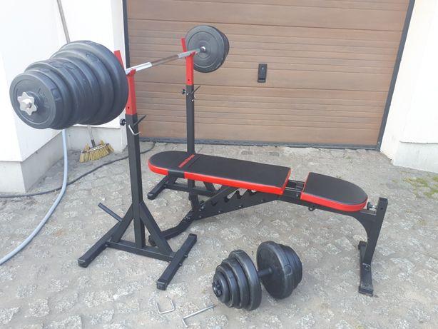 Domowa siłownia nowa marbo sport 69.5kg obciążenia pretorians zestaw