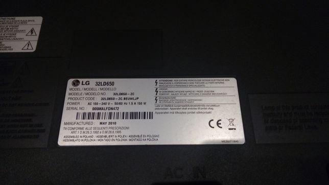 Televisão LG 32ld650 para peças