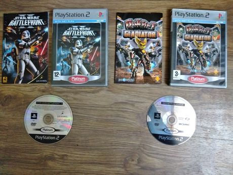 Ratchet Gladiator i Star Wars Battlefront II ps2