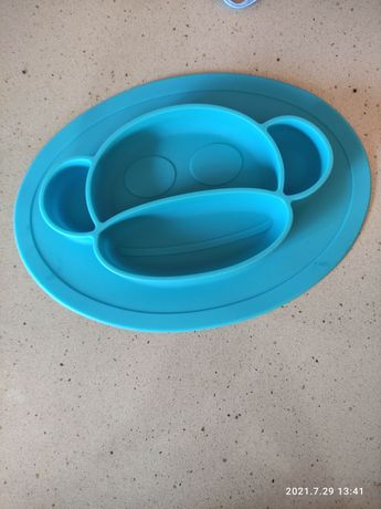Mini mat azul. Tabuleiro para bebés