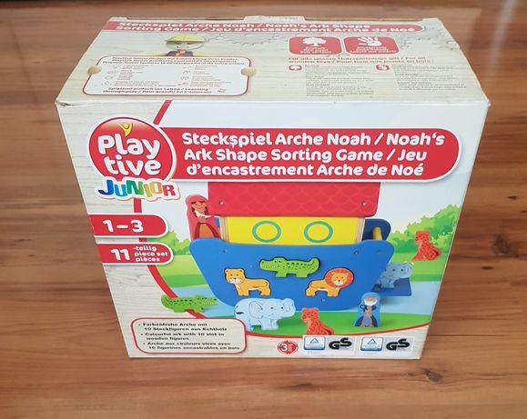 Zabawka sorter układanka Arka Noego drewniana