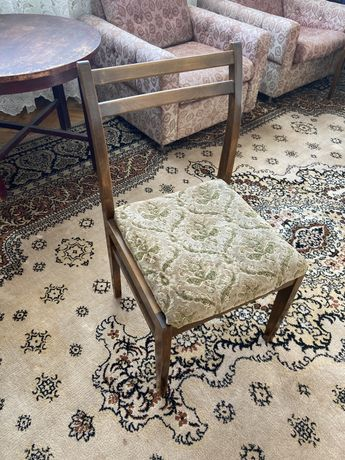 Krzesła drwniane vintage PRL 6 szt